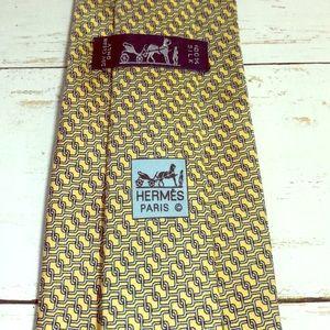 Hermès 100% Silk Tie Geometric Pattern